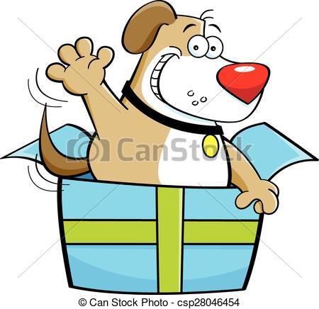 Box clipart dog Dalmatian Illustration out dog gift