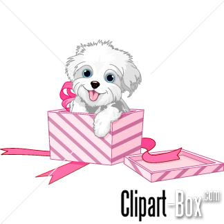 Box clipart dog DOG  CLIPART A PUPPY