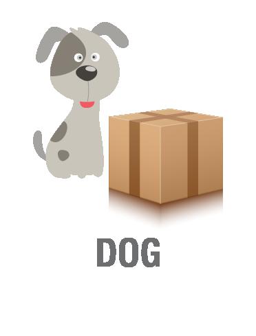 Box clipart dog Dog or or medium small