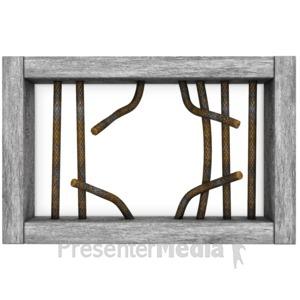 Bar clipart cage Great Window Broken Figure Jail
