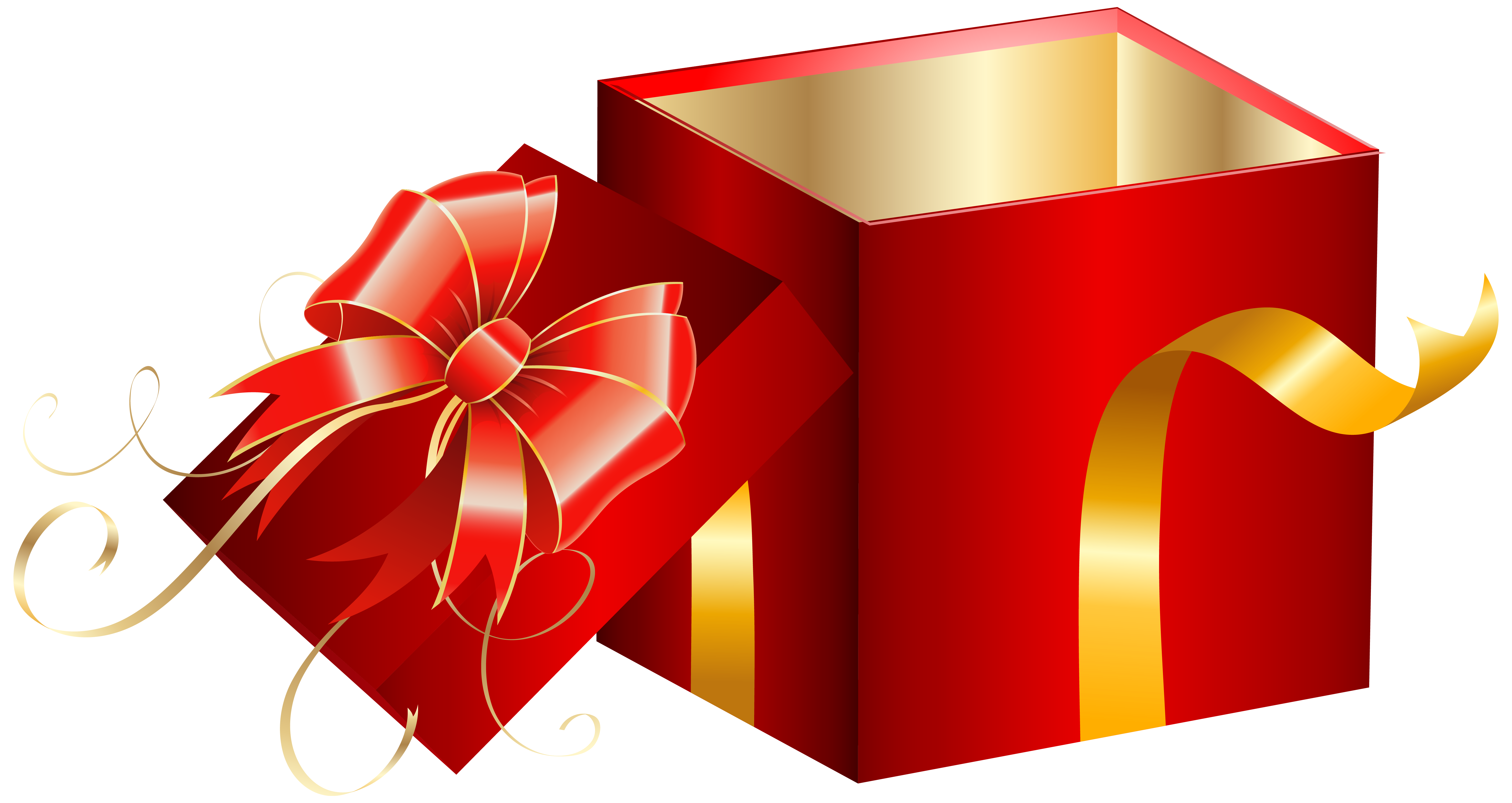 Box clipart opened Red  full PNG Clipart