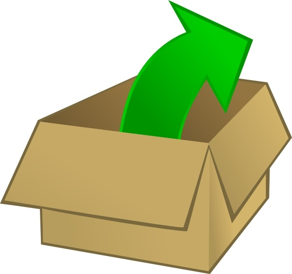 Box clipart out Free clip Open svg The