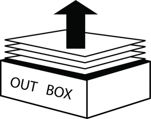 Box clipart out Office Black Out Image papers
