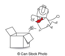 Box clipart out Clipart box Illustrations Out of