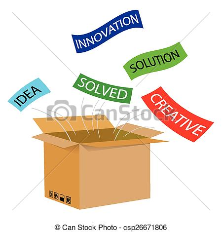 Box clipart out The Box for of Vector