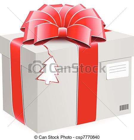 Box clipart postage Bow bow with postage postage
