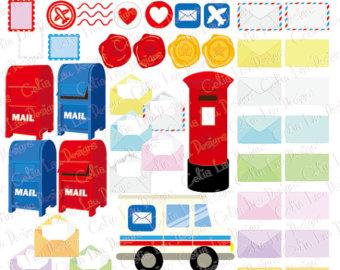 Box clipart postage Letters Etsy clipart Envelope digital