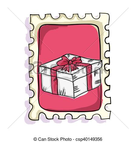 Box clipart postage Postage present box Clipart