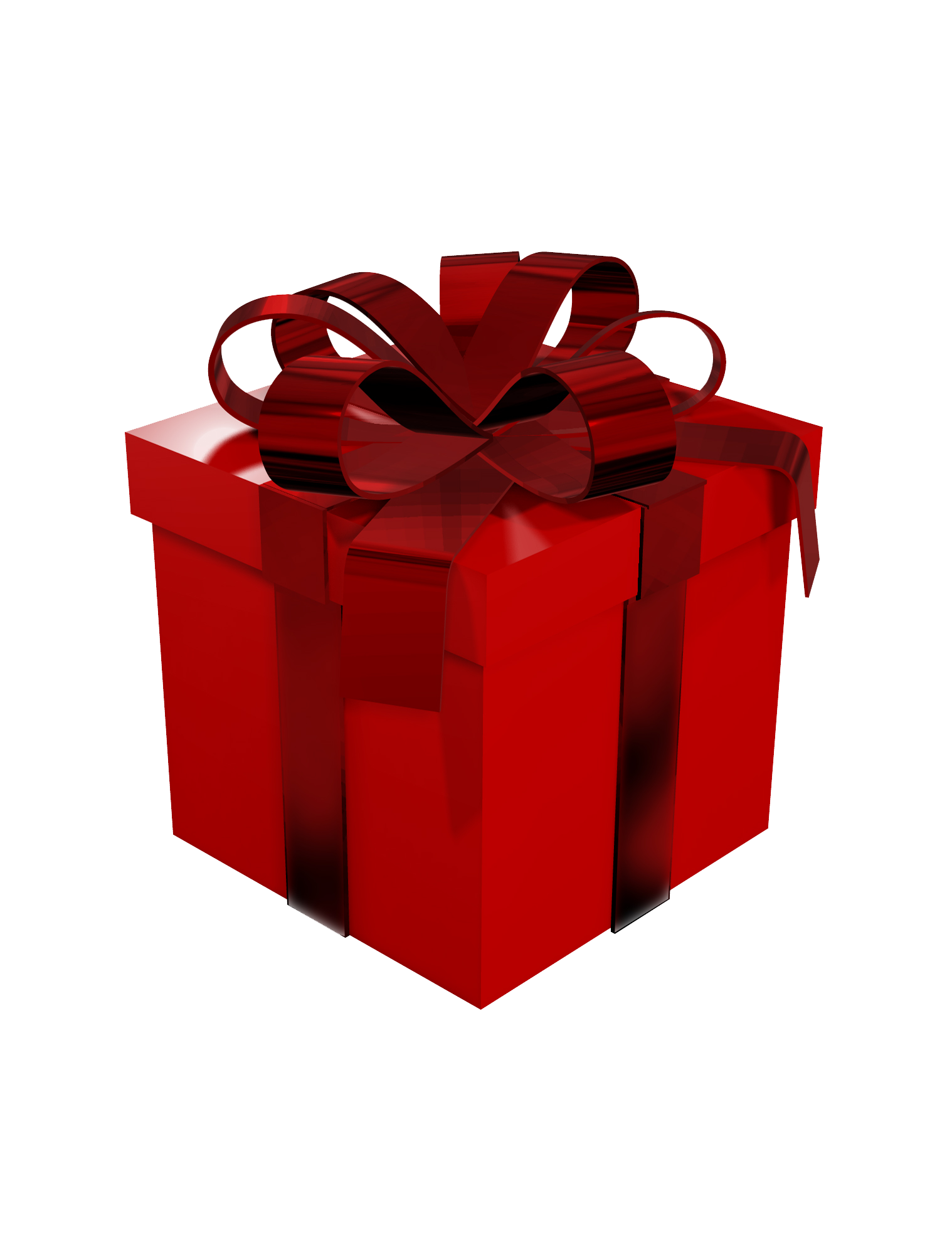 Larger clipart gift box Large Clipart Red Box View