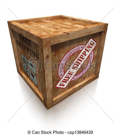 Box clipart shipment Crate free box shipping box