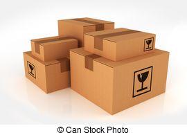 Box clipart shipment Illustrations Logistics Word Pile Boxes