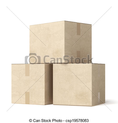 Box clipart stack box Illustration moving Stock of on