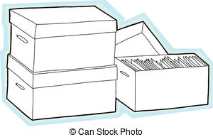 Box clipart storage unit Documents Blank with  Art
