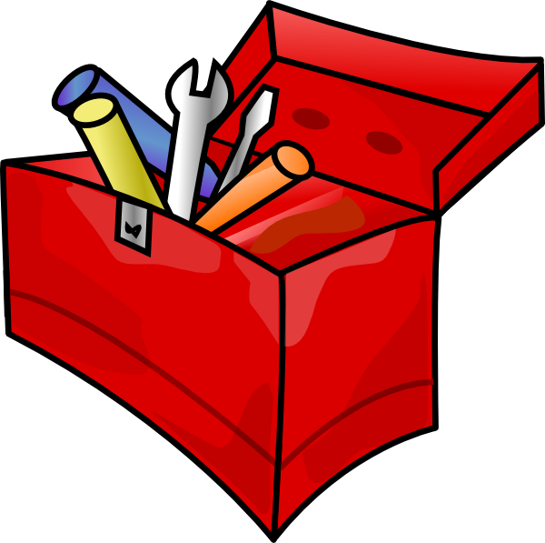 Brown clipart toolbox Clip Clker Art of at