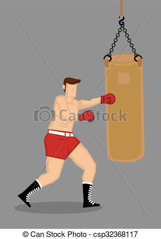 Boxer clipart boxing bag Bag with of Training Punching