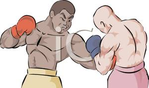 Boxer clipart boxing match Royalty Clipart Free Cartoon Two