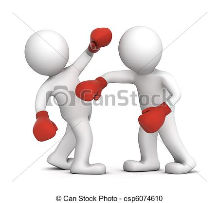 Boxer clipart boxing match Match on Isolated Boxer and