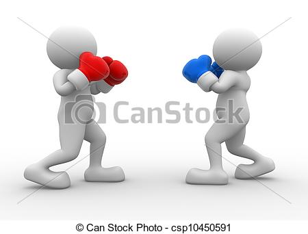 Boxer clipart boxing match Of boxers Two people person