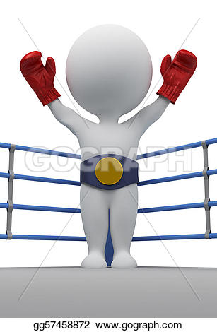 Boxer clipart champion Isolated Stock small boxer belt