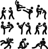 Boxer clipart feud Muay Comic Clip Fight Boxing