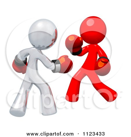 Boxer clipart feud Clipart Fighting 10 Man Green