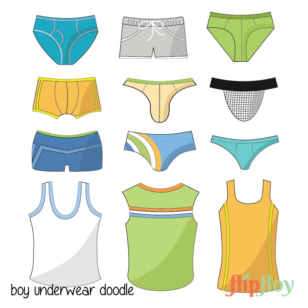 Boxer clipart underpants Man or Man Underwear Vector