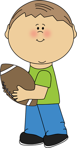 Coin clipart boy with Clip Kids Football Carrying Images