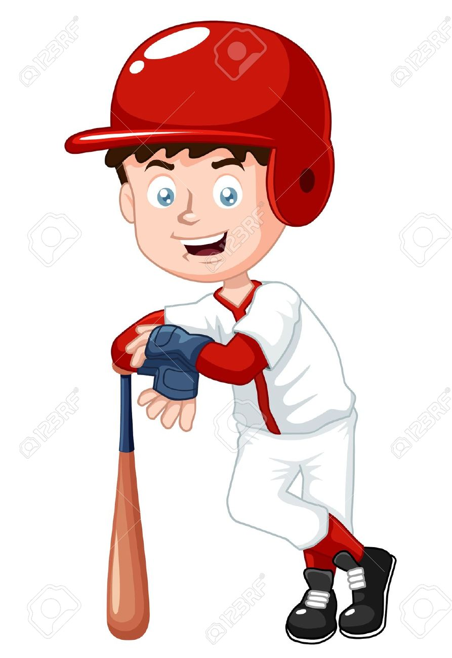 Boy clipart baseball player Clipart Boy of collection Of