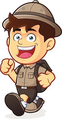 Boy clipart camper Camp Scout summer Summer boy