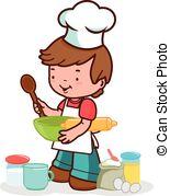 Boy clipart cooking Children cook kitchen the preparing