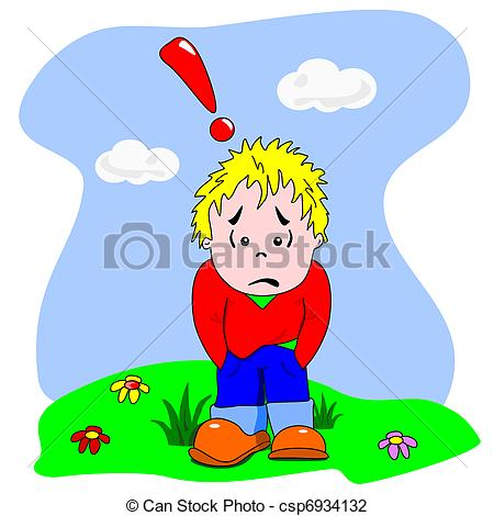 Boy clipart disappointed Cartoon & csp6934132 Sad &
