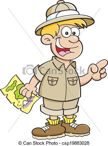 Boy clipart explorer Illustration Dressed Dressed csp19883028 Cartoon