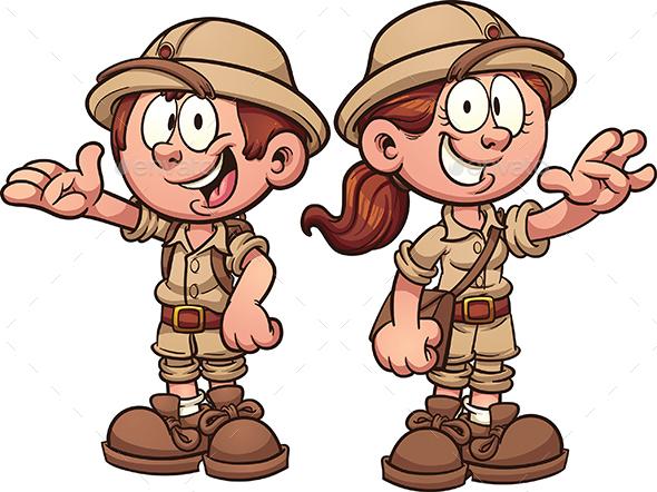Boy clipart explorer GraphicRiver People by Explorer Explorer