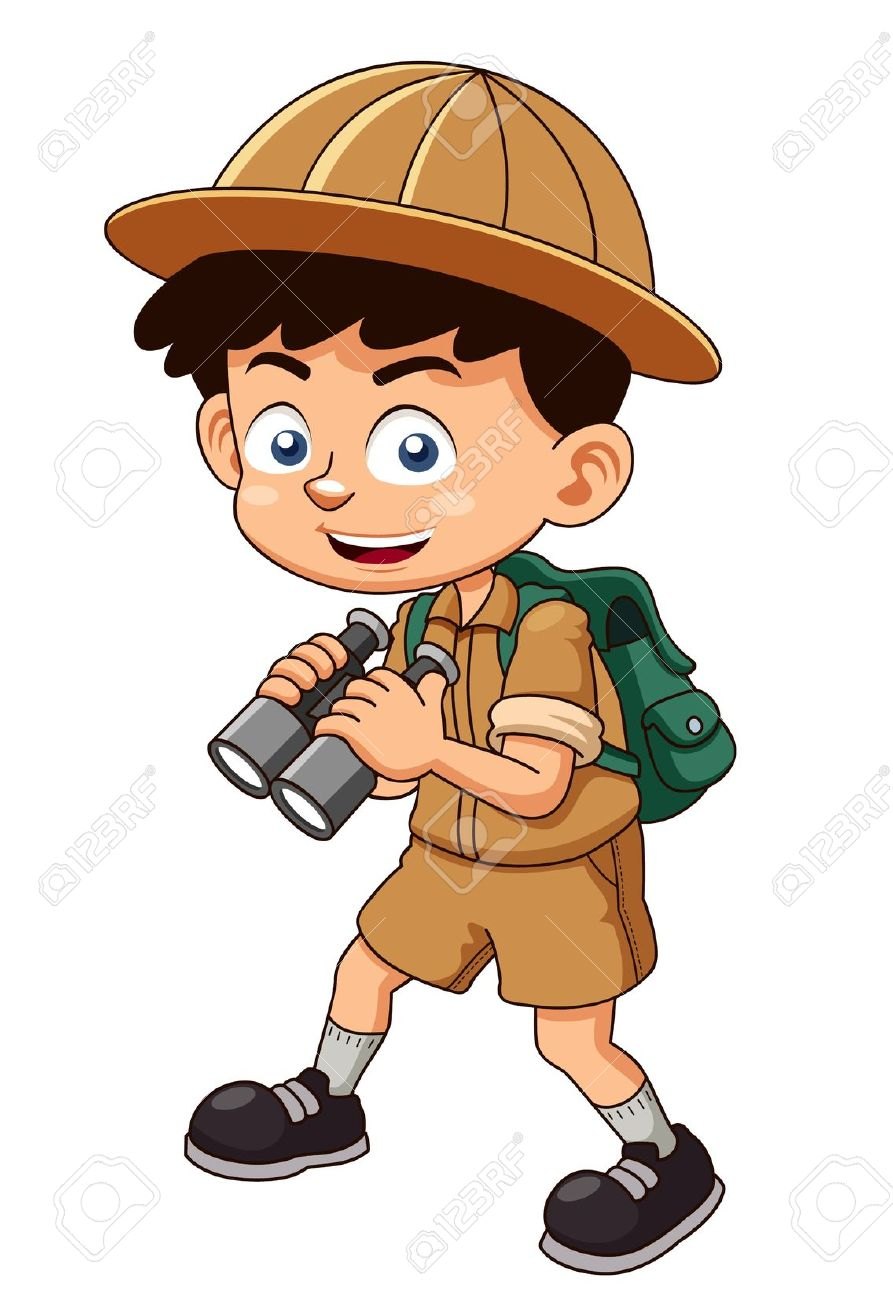 Boy clipart explorer Clipart Boy with Illustration With