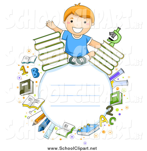 Boy clipart frame Of by Educational of Boy