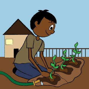 Boy clipart gardening Boy Teenage collection clipart Image