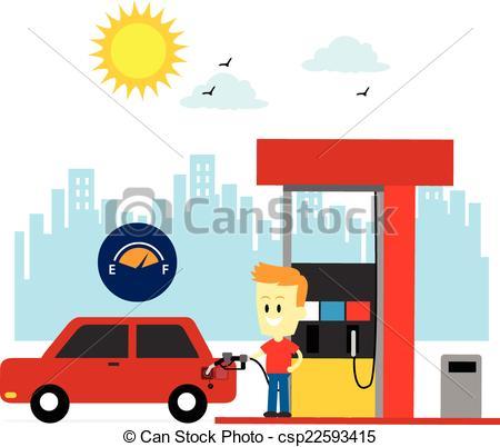 Boy clipart gasoline Up Clip Man A Gas