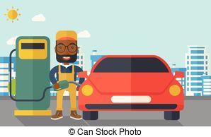Boy clipart gasoline Vector hipster happy fuel