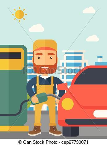 Boy clipart gasoline Illustration  happy fuel up