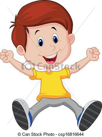 Boy clipart happy Cartoon Happy Happy of EPS