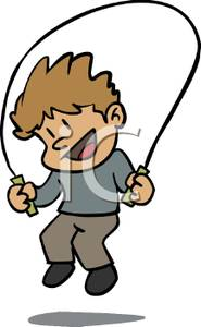 Boy clipart jumping rope Jump Smiling Jump A Rope