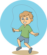 Boy clipart jumping rope Kb gray  for Graphics