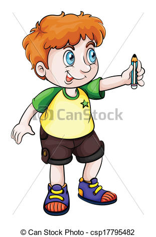 Child clipart pencil Csp17795482 An Asian Asian