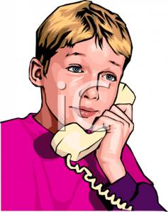 Phone clipart boy Picture Boy Phone Free Talking