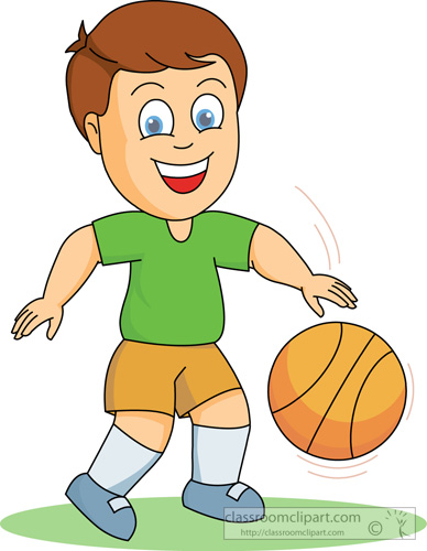 Boy clipart play basketball Girl clipart playing and