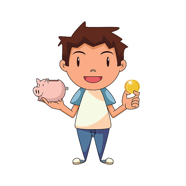 Boy clipart saving money Of The Money with money