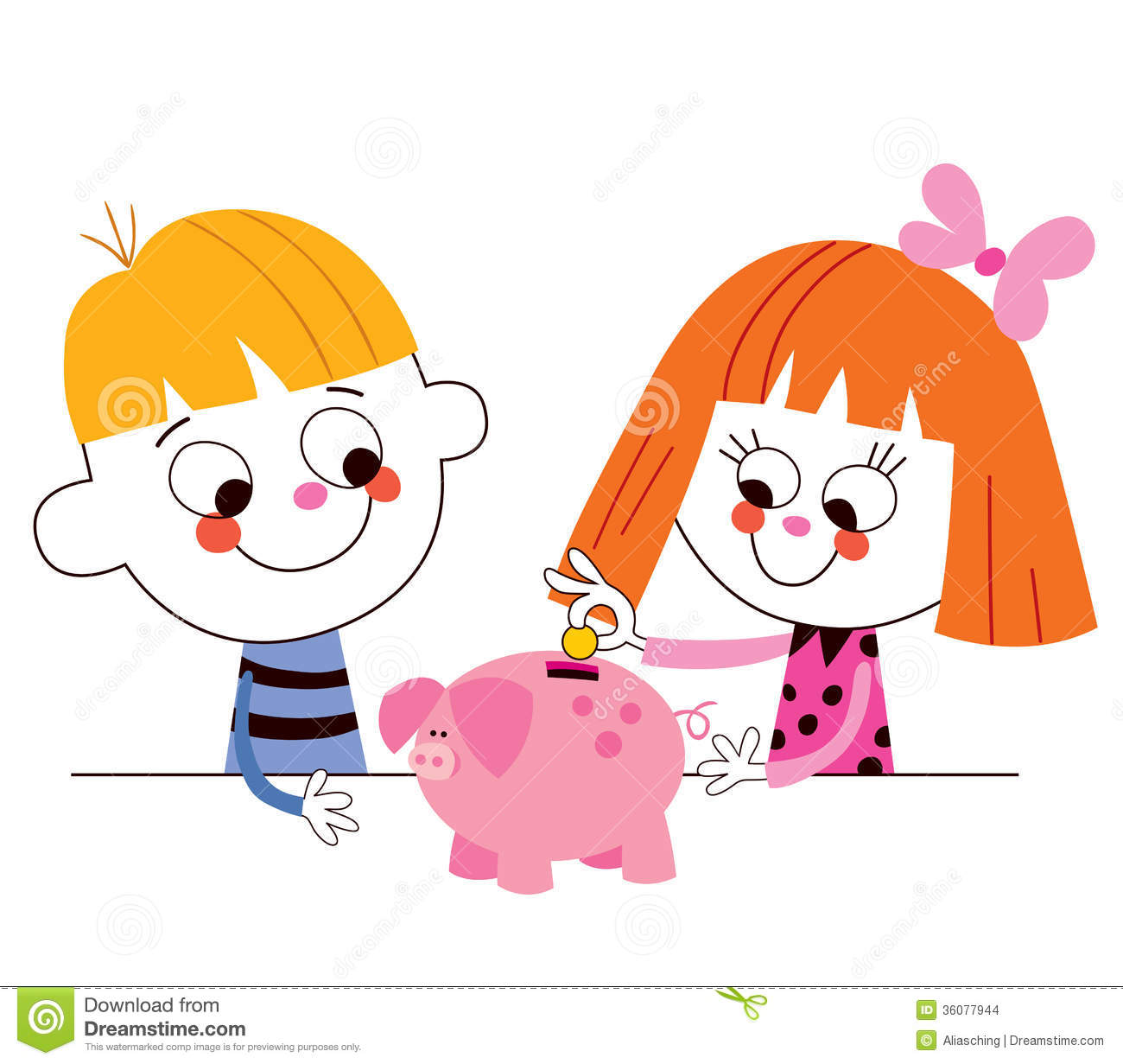 Boy clipart saving money Cliparts Money with collection kids