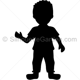 Boy clipart silhouette Boy Silhouette Silhouettes People