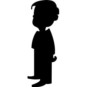 Shadow clipart boy shadow #11