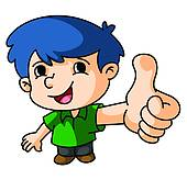 Boy clipart thumbs up Up Thumbs Action · Boy